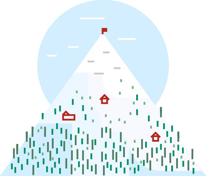 Hol csússz a hegyen?