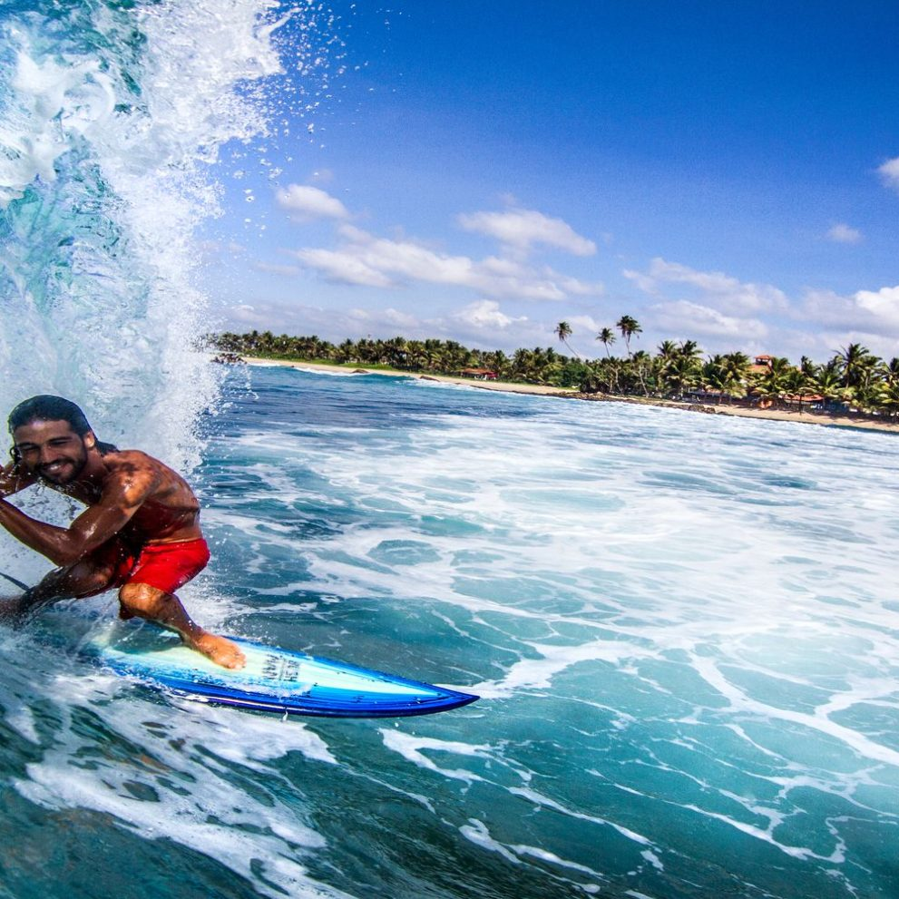 Sri Lanka local surfer