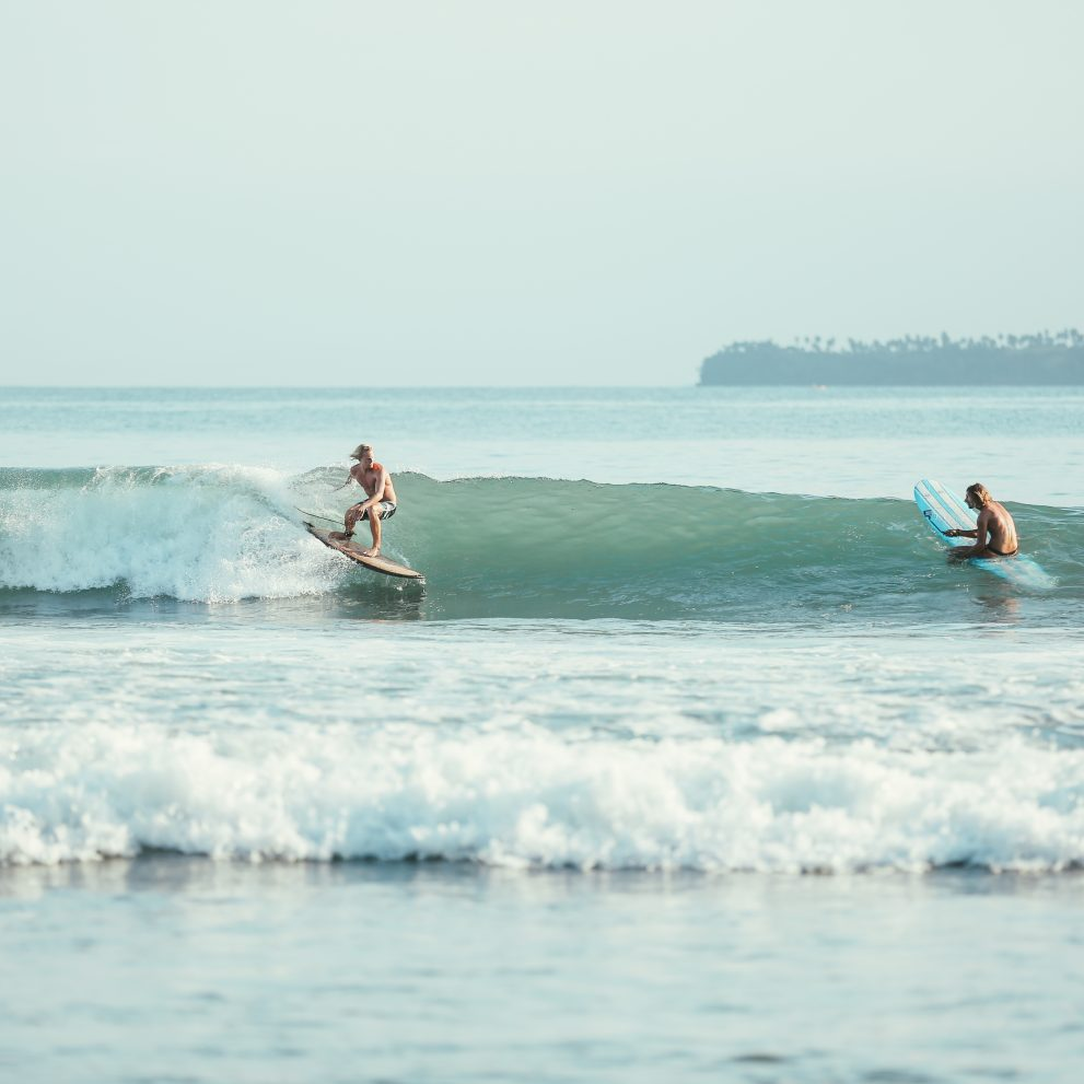 Cemetery is always the favorite surf spot of the group, it provides perfect waves both for beginners and advanced surfers.