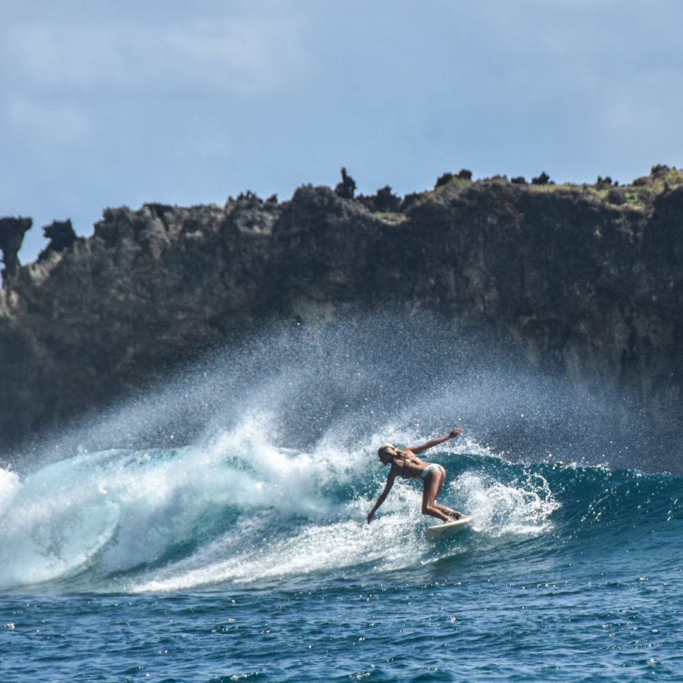 Having a fun time on a board is easy, the island is surrounded by world-class reefs and turquoise water.