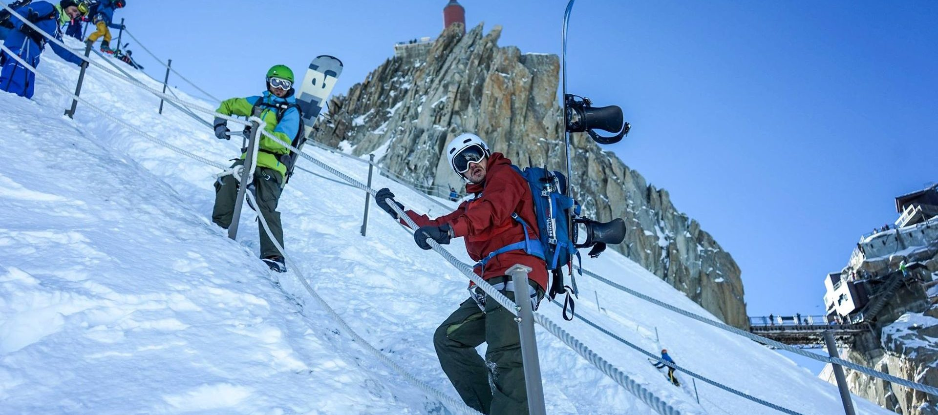 The ride down from Aiguille du Midi starts at 3842m and ends in Chamonix at 1050m.