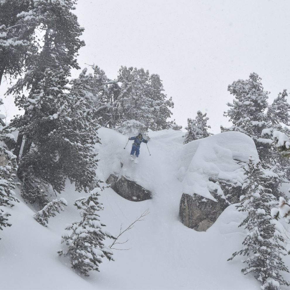 After huge snow dumps you can drop in from anywhere it's like landing on the softest pillow.