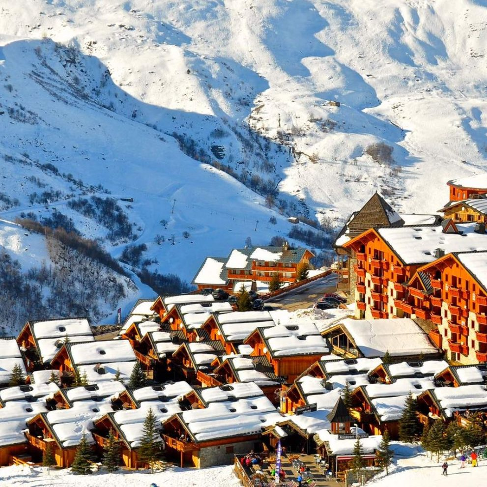 The classic French Alpine resort look, the best location for our basecamp.
