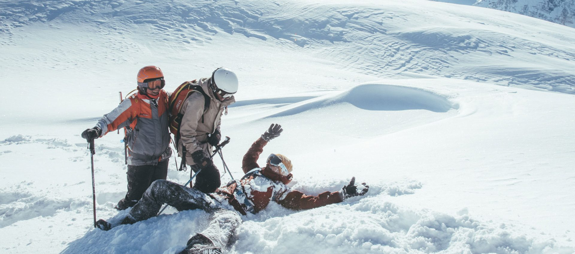 He's been found! The joy of practical avalanche & safety training.