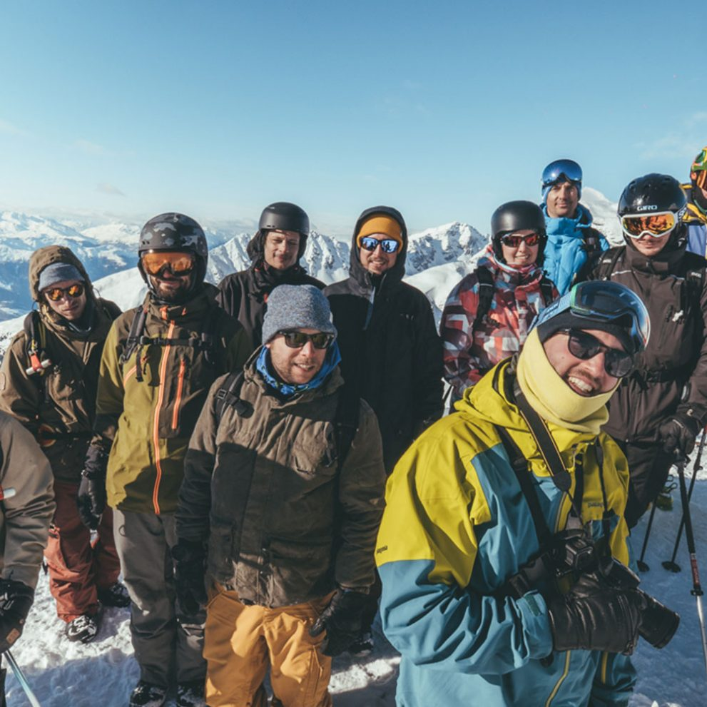Freeriding always brings a great crew together.