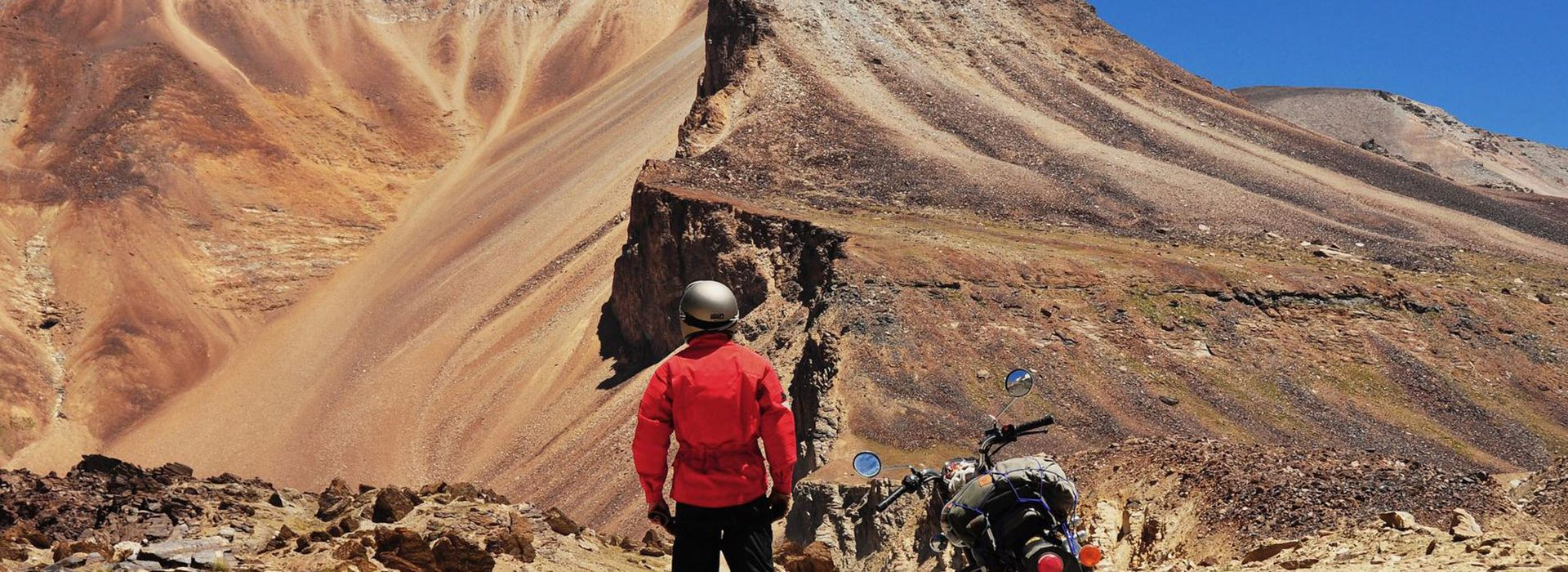 The motorcycle ride of your life through majestic peaks of the Himalayas on the world's highest motorable road.