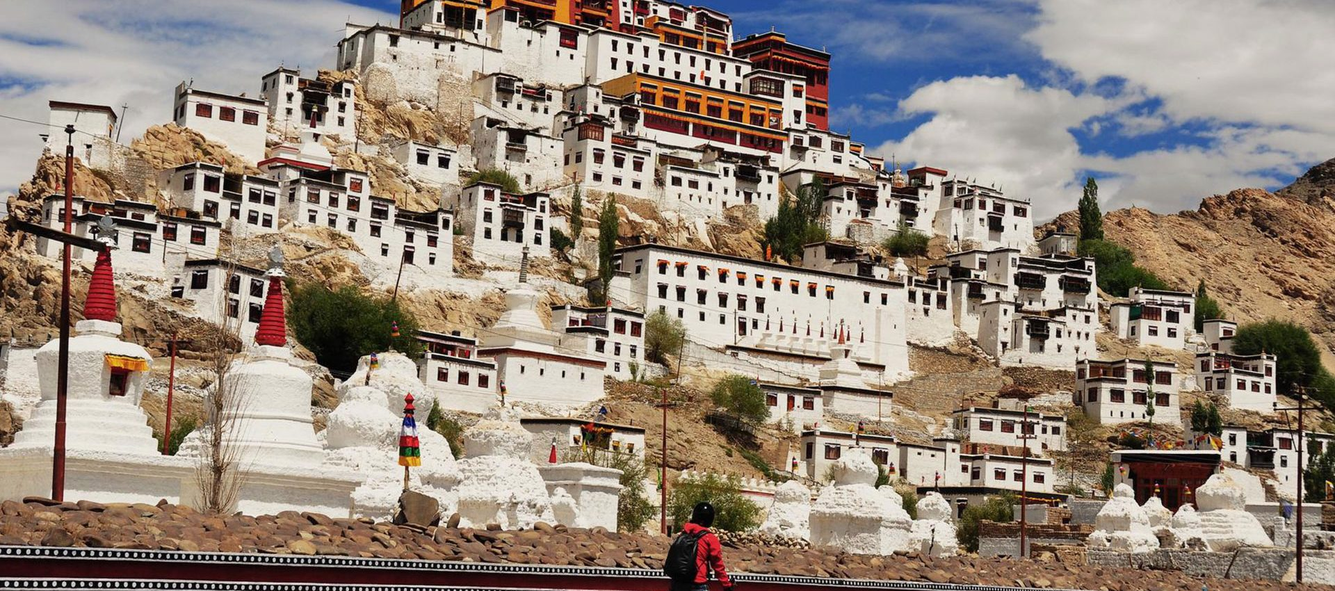 Thiksey is considered the most beautiful monastery in Ladakh, it's like a miniature Lasha.
