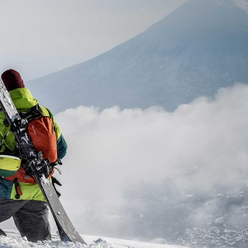 Freeriding down a volcano is truly an amazing experience.