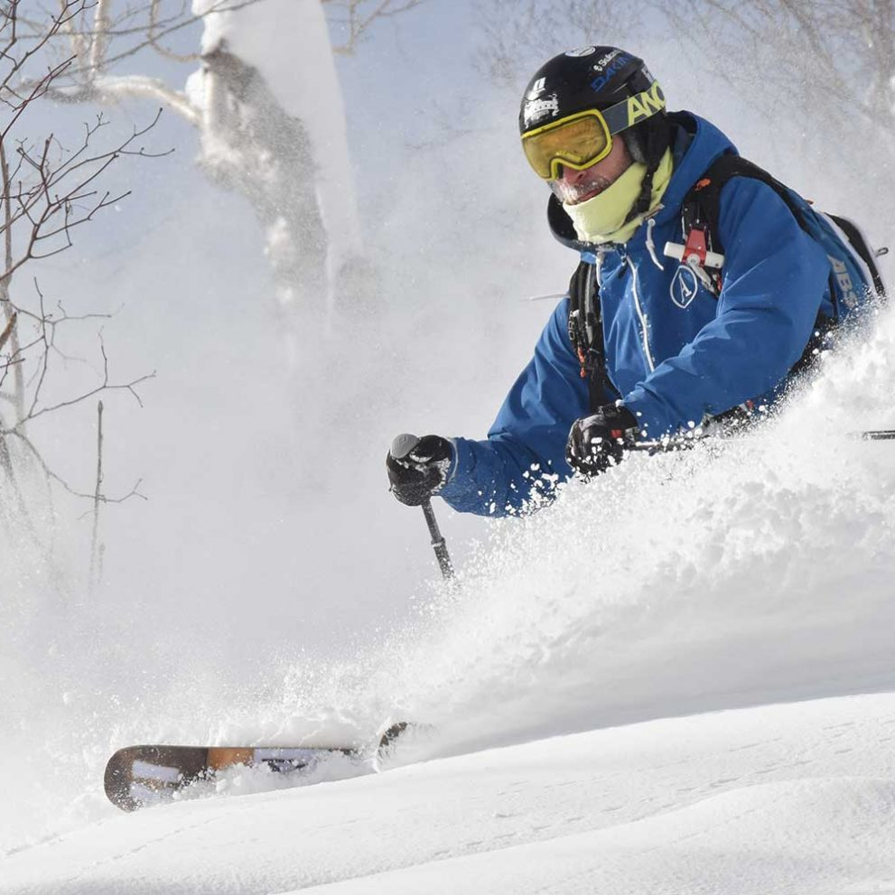 With every turn you will sink deeper and deeper into the most perfect powder ever.