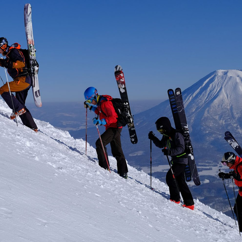 On the hike to Annupuri peak the view of the Yotei Volcano is breathtaking.