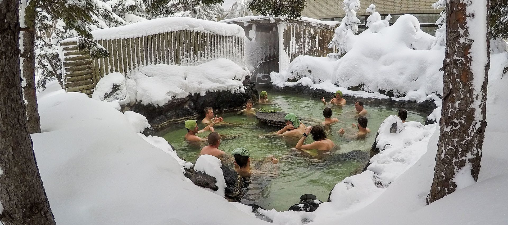 After long days riding the slopes, we'll unwind in the hot volcanic thermal waters of an Onsen.