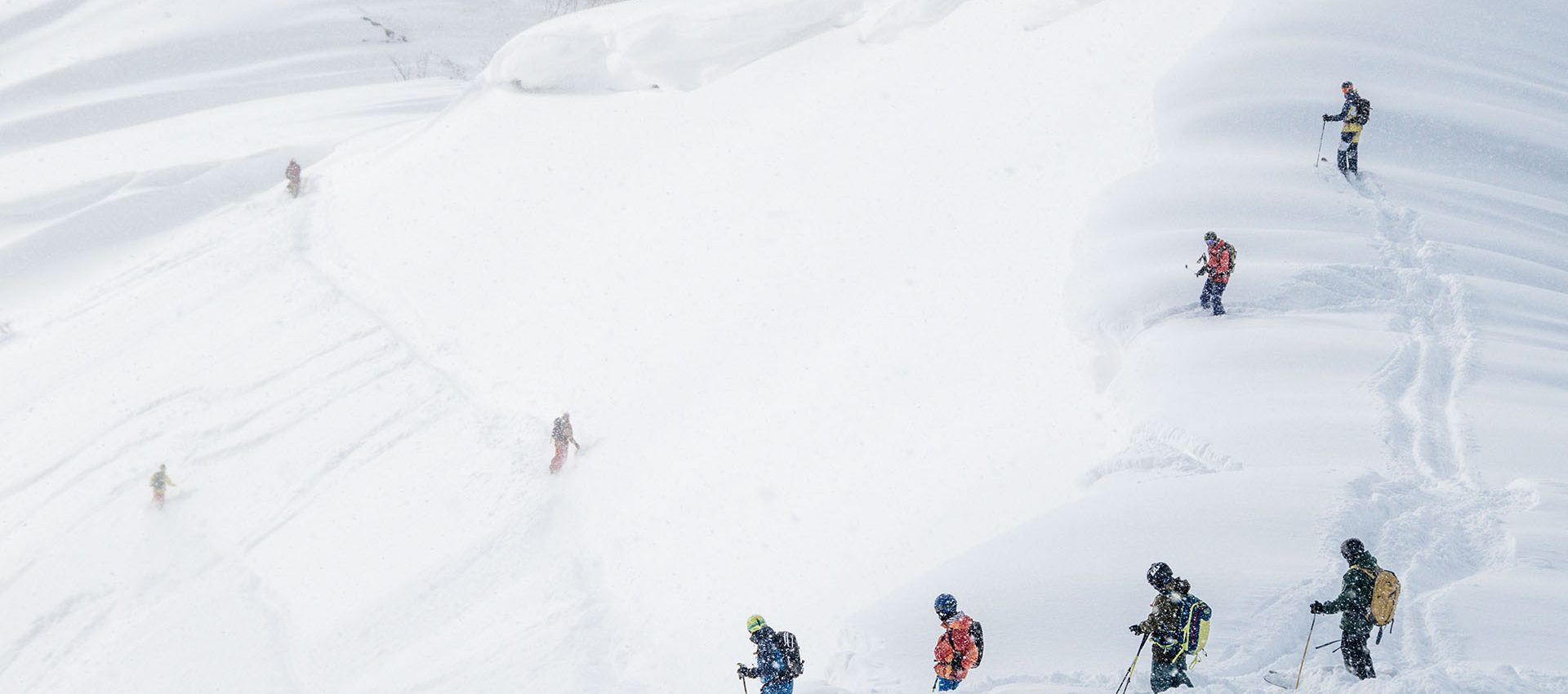 The ridges here have the biggest and softest snow pillows you have ever seen.