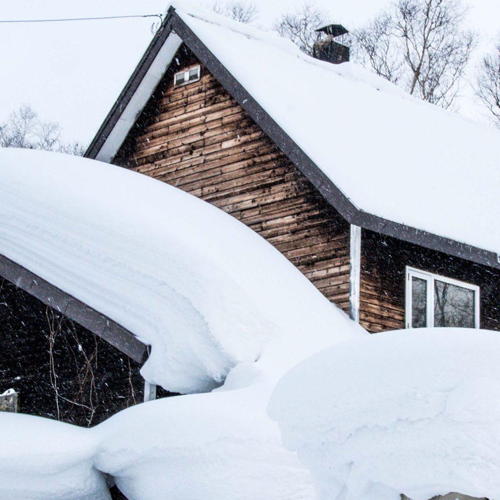 After a really heavy snowfall we might have to dig a little to get out of the house.