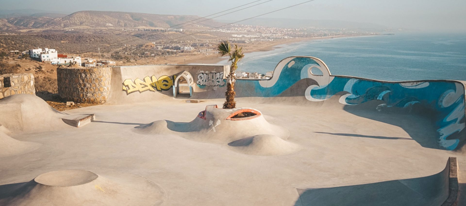 You can practice your surf skills inland, on the most amazing skate park overlooking the Ocean.