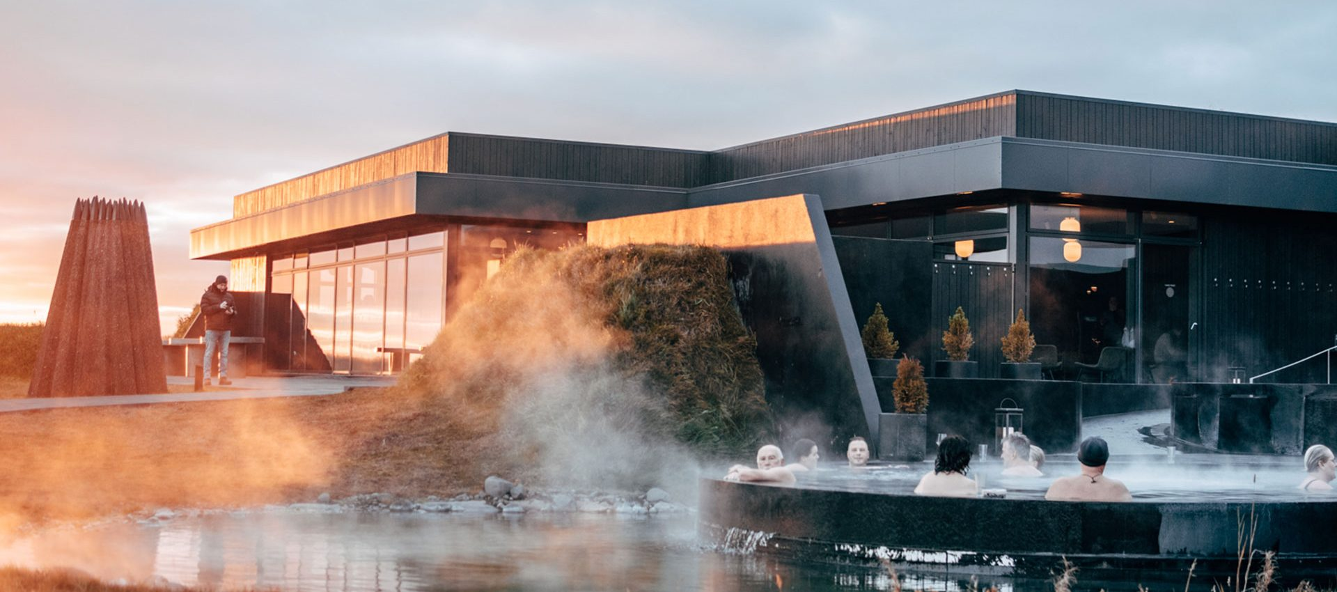 Private geothermal spa in the middle of Iceland's breathtaking natural beauty.